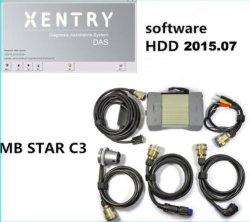 La stella C3 di mb di diagnosi di Xentry con il cavo di alta qualità 5 con software HDD 2015/07 DHL libera per la vendita calda delle automobili del benz! in azione!
