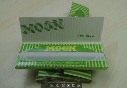 Il verde 1 della luna 1/4 di 13GSM multa il documento di rotolamento di fumo impresso