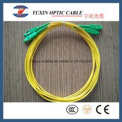 3m LSZH o cavo di zona ottico della fibra del duplex 2.0mm Sc/APC-Sc/APC del PVC MP