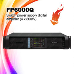 Amplificatore di potere di Digitahi dell'alimentazione elettrica dell'interruttore di Fp6000q/Fp10000q 4channel 1300W