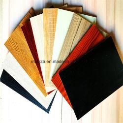 La Mélamine MDF laminé avec des couleurs différentes pour les matériaux de construction et de meubles