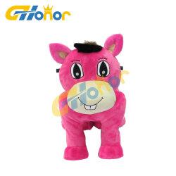 Populaires animal en peluche manèges pour enfants à cheval sur les voitures électriques des Jeux d'animaux jouet en peluche de commande à distance de voiture carrés Les jouets électriques pour la vente