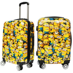 Goedkope ABS Children Travel Airport Bagage Bag Trolley bagageset 20 inch Cartoon Animal Pattern ABS PC Trolley Case