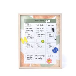Wall Whiteboard Bulletin Magnetic Dry Erase Memo Board met pen