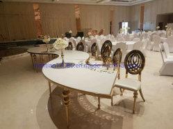 Esfera de antigo mobiliário Pernas Gold em aço inoxidável Phoenix Cadeira Evento Casamento mesa e cadeiras