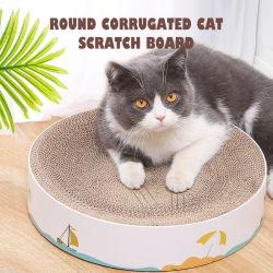 Cat Scratcher redonda de papel corrugado de suministro de Pet Post