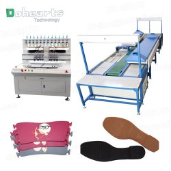 حذاء مطاطي PVC Sole Slipper Top Upper Production Line، ماكينة إعداد أشرطة مصنوعة من خفين بلاسيسول Sandal