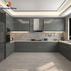 خزانة مطبخ مكبرةمخصصة لمواد البناء لديكور المطبخ