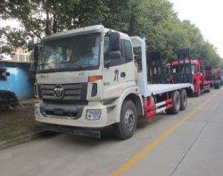 Foton 20 Ton 10 rueda 6X4 Carretilla de transporte de superficie plana
