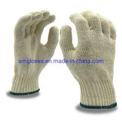 安い働く手袋の綿によって編まれる手袋