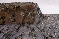 Design encantador Bolsas de malha de Casamento Tecido Lace bordados de Vestidos e saias Fabric