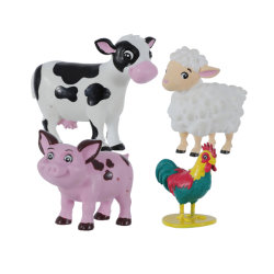 Le plastique 5-6cm petite caricature de PVC Jouer Jouets Jouets pour cadeau promotionnel