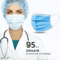 Qualidade superior 3ply Ar não tecidos Anti virus e poeira máscara descartável