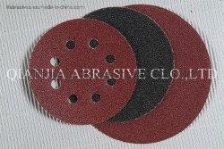 """5"""" 125mm Gancho y bucle de óxido de aluminio de Velcro abrasivo que el disco o discos de lijado/ Disco de PSA."""