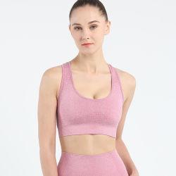 La mujer Fintness New-Arrival Yoga Bra personalizar el logotipo de mayorista de impresión de bordado OEM ODM poli funcional Bra desgaste Gimnasio
