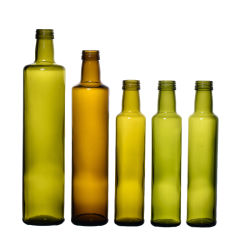Темно-зеленый кухня масло стеклянную бутылку пищевые оливкового масла в форме квадрата бутылок в оранжевый цвет 100ml 250 мл 500ml 750 мл 1000 мл