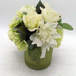 Bloom Times 1팩 작은 화분 인공 꽃 장식 Fake 꽃다발꽃 백색의 조랑말 블루 로즈 포 플로랄 준비 투박한 테이블