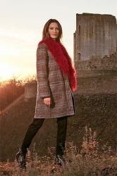 Staub-Mantel der Form-Überformatherbst-Winter-Woolen Frauen mit Revers-Muffen-windundurchlässigem Mantel