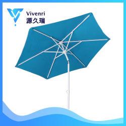 6 Polyester-Gewebe der Panel-7FT Hochleistungsc$luft-luftauslaß UVschutz-Patio-Regenschirm mit Zink