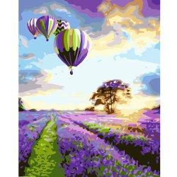 Hand Painting Hot Air Balloon de toile d'huile et arbre d'huile moderne de la peinture sur toile La toile de bricolage salle de séjour d'impression