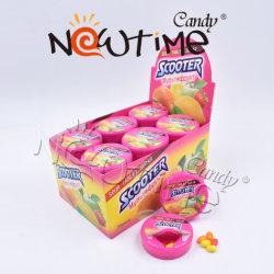 NTG19017 Mix aigre colorés Chewy haricots en boîte ronde