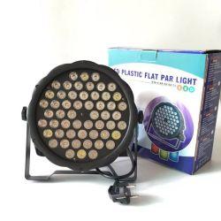 54PCS*1W RGB DMX LEDの段階のための平らな同価ライト