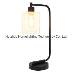 Jlt-7801 candeeiro de mesa Secretária Industrial com Lantern de vidro transparente Sombra