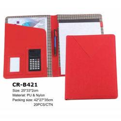 Colorido Faux Leather Mulheres Documento na pasta do organizador com a Calculadora