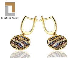 Красочные Micro проложить кубических обедненной смеси 925 стерлингов разорванные Earring украшения для женщин