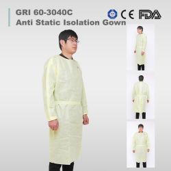 일회용 보호복 멸균 비수술용 의료 병원에서는 가운이 우븐 기능을 사용하지 않습니다 잠옷 가운을 입히고 FDA CE 승인 보호 제품