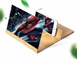 Du grain du bois de l'écran de téléphone mobile en HD à la loupe Loupe Animation 3D amplificateur vidéo souple loupe Expander Détenteur Détenteur du support mobile