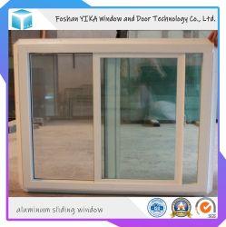 PVC coulissant UPVC trempé Simple/Double fenêtre fenêtre en vinyle de couleur du bois et de la porte fenêtre PVC à bon marché