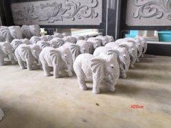 Pedra natural granito cinza Escultura Elephane SF-ST-042 para a paisagem de Jardim