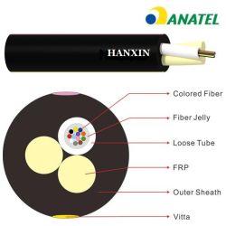 Anatel 증명서를 가진 옥외 공중 반대로 UV Cable De Fibra Optica 2/4/6/8/10/12fo Cfoa Sm Asu 80 광섬유 광케이블