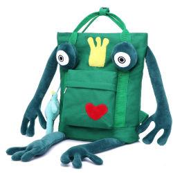 Dessin animé mignon petit sac à dos de la grenouille de garçons et filles de la personnalité Schoolbag toile Sac de voyage