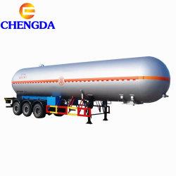 Los ejes 3 56m3 de cisterna de 60000 litros de gas tanque de gas de remolque semi