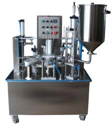 Volledige Automatische Vloeibare het Vullen van de Kop van het Water van de Melk van de Yoghurt Zuivere Verzegelende Machine