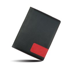 El logotipo de relieve de medida de alta calidad de cuero de PU/PVC RFID de la familia de los hombres el bloqueo de tarjeta de Viaje Pasaporte del titular de cartera