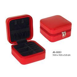 La boîte de rangement en cuir Bijoux Coffret à bijoux coffret à bijoux de voyage à l'emballage