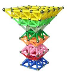 Populaire Reeks van het Onderwijs Magnetische Stuk speelgoed van Ballen 144PCS en van Stokken