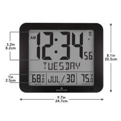 De atoom Klok van de Muur met Temperatuur Indooroutdoor, Volledige Kalender en Grote Vertoning