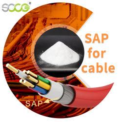 Grau superior Super Polímero absorvente SAP para produção de enchimento de produtos químicos em pó/Óleo de cabos eléctricos