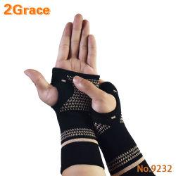 Tecelagem de fio de fibra de cobre Sports punho e mão Proteção para prevenção de entorse