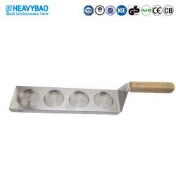 De Container van de Opslag van de Saus van de Schop van de Kop van het Roestvrij staal van het Keukengereedschap van het Restaurant van Heavybao