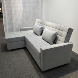 Appartement Projet canapé de la table personnalisée Conception simple tissu pliage de stockage de forme de L'un canapé-Dos réglable