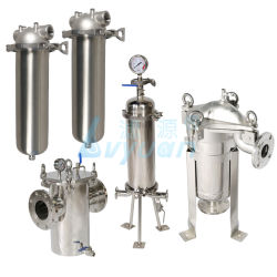 Wasserbehandlung 10 des Edelstahl-20 einzelnes u. multi Kassetten-Wasser-Filtergehäuse des Zoll-Mikross 304 316L für industriellen flüssigen Schmierölfilter