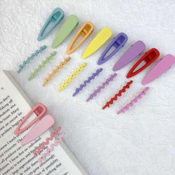 Colore gomma vernice Bambini′ S clip per capelli 4,7cm opaco smerigliato Set di spilla per capelli Waves