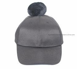 OEM 형식 자수 겨울 모자 로고 모피 POM POM를 가진 주문 야구 모자