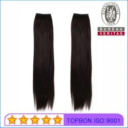 100% Humano extensiones de cabello virgen resaltar Remy, secador de pelo de plumas