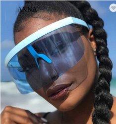 Escudo de gran tamaño Sexy Visor nuevo diseñador gran espejo de marco de las gafas de sol tonos Mujeres Hombres Windproof gafas de sol